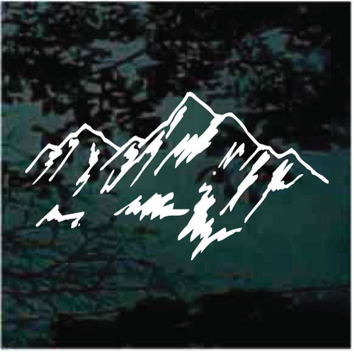 Custom Mountain Decals For Camper