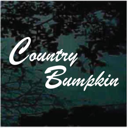 Custom Country Bumpkin Window Decals