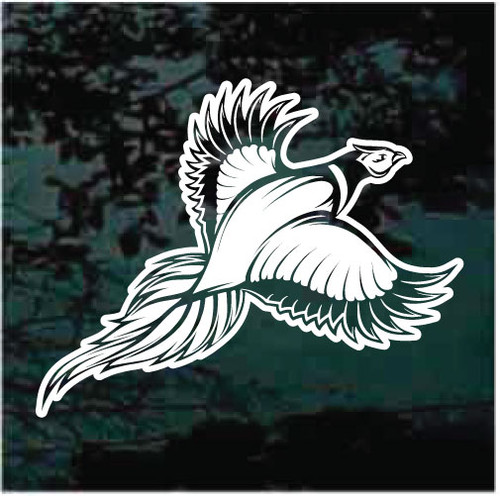 Stylish Pheasant Flying Window Decals