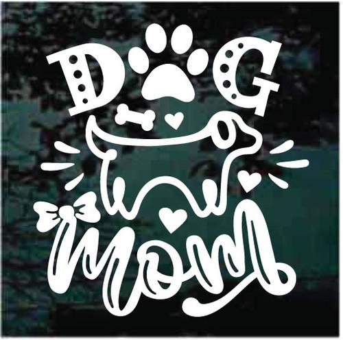 Dog Mom Window Decals