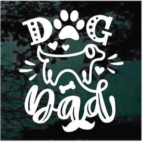 Dog Dad Window Decals