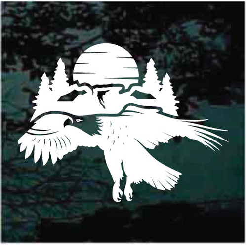 Eagle Mountain Sunset Window Decals