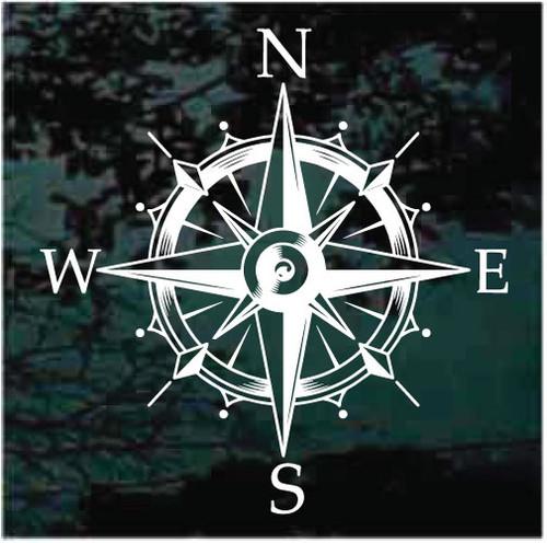 Nautical Compass & Wind Rose Window Decals