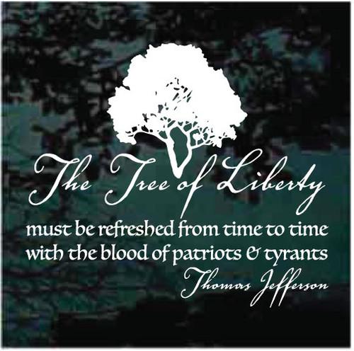 Tree Of Liberty Quote Window Decals