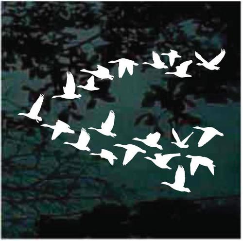 Migrating Geese Window Decals
