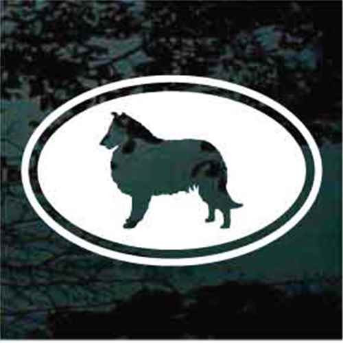 Collie Oval Cut Out Window Decal