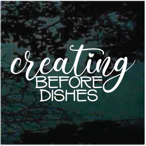 Creating Before Dishes Window Decals