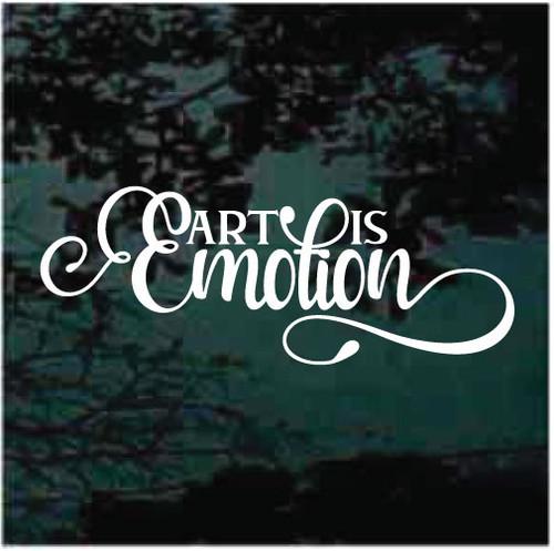Art Is Emotion Window Decals