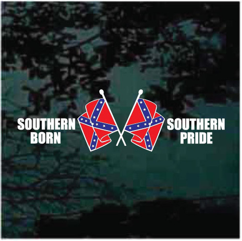Southern Born Southern Pride Confederate Flag Window Decals