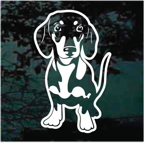 Dachshund Puppy Window Decals