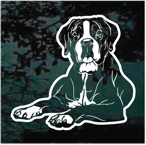 Boxer Down Window Decals