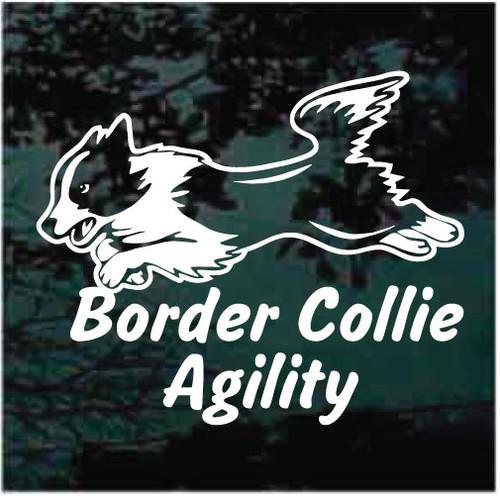 Border Collie Agility Window Decals