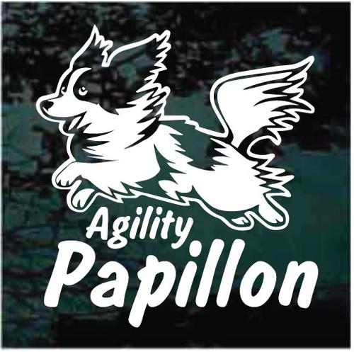 Papillon Agility Window Decals