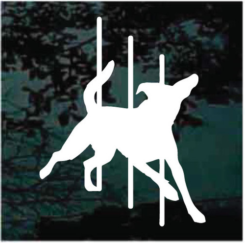 Pole Agility Dog Window Decals