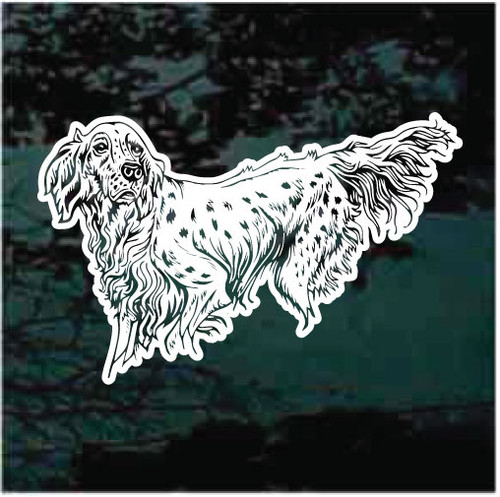 Beautiful English Setter Window Decals
