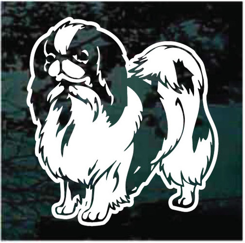 Cute Japanese Chin Window Decals