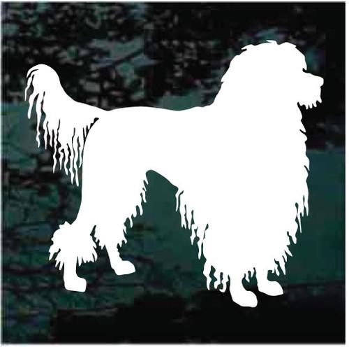 Handsome Portuguese Water Dog Window Decals
