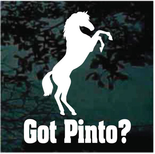 Got Pinto? Horse Window Decals