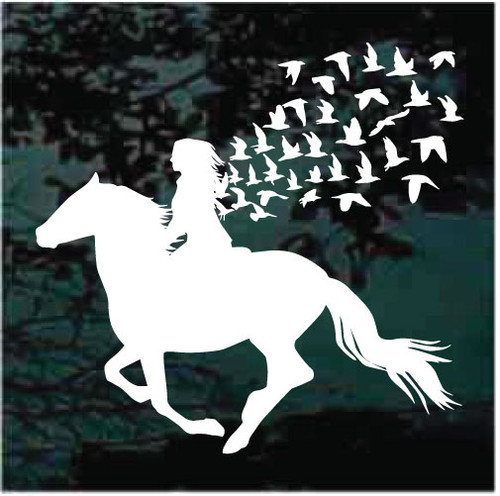 Horse and Girl Window Decals