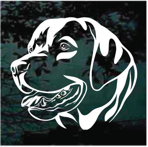 Sweet Labrador Retriever Head Window Decals