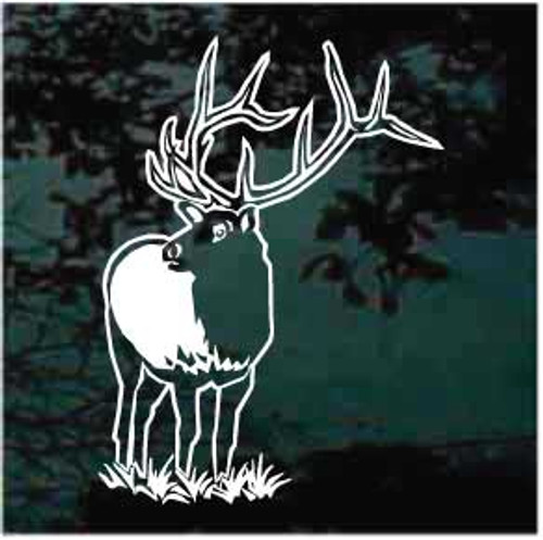 Large Bull Elk Standing Window Decals