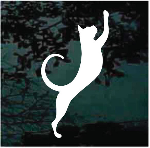 Cat Stretching Window Decals