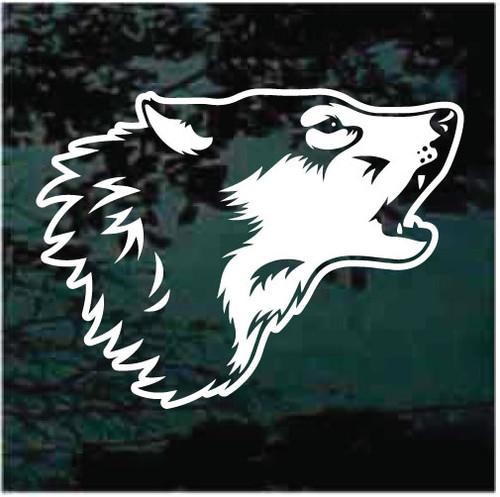 Wolf Head Graphic Window Decals