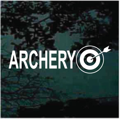 Archery Vinyl Lettering Window Decals