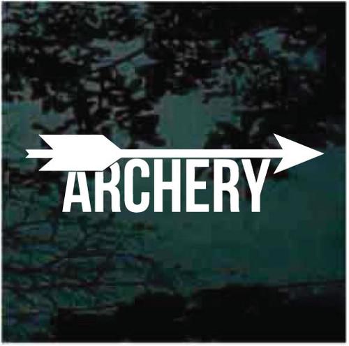 Archery Arrow Vinyl Lettering Window Decals