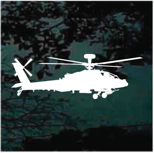 Custom Apache Helicopter Window Decals