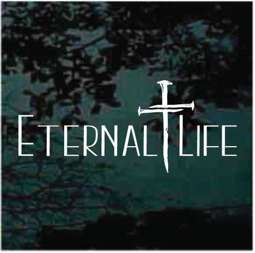 3 Nails Cross Eternal Life Decals
