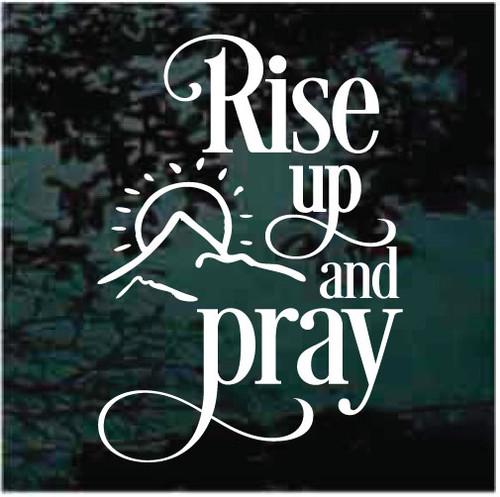 Rise Up & Pray Window Decals