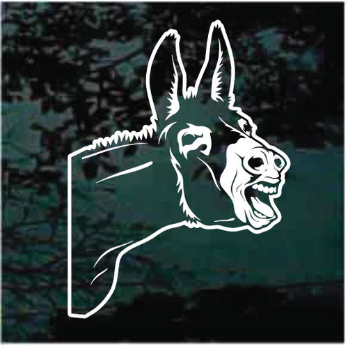 Donkey Peeking Window Decals
