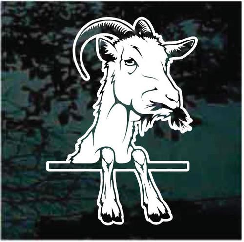 Billy Goat Peeking In The Window Decals