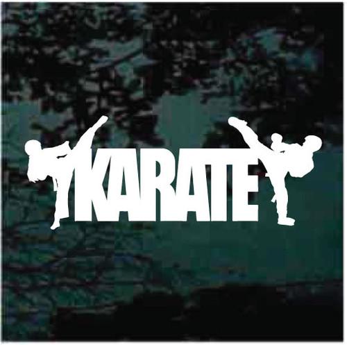 Karate Vinyl Lettering Window Decals