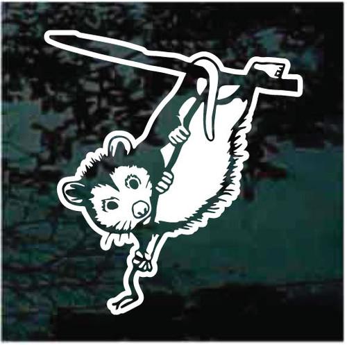 Possum In Tree Window Decals