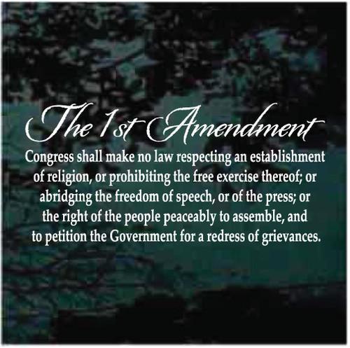 The 1st Amendment Window Decals