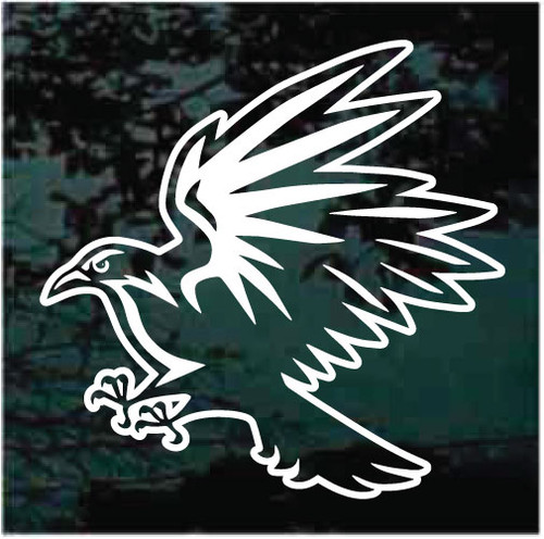 Angry Raven Window Decals
