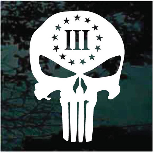 3 Percenter Skull Window Decals