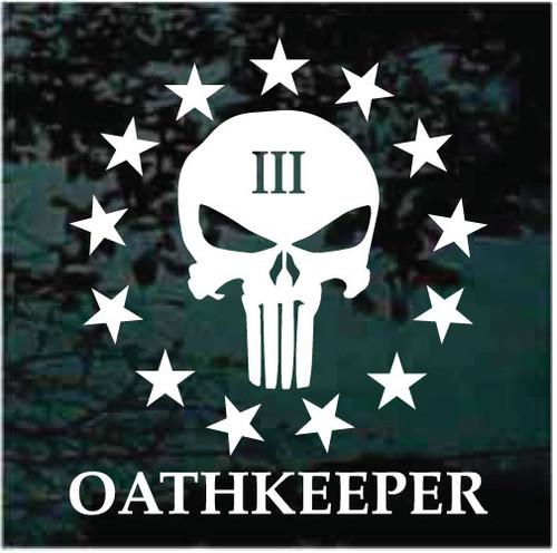 3 Percenter Oathkeeper Skull Window Decals