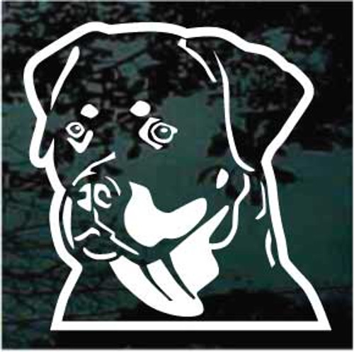 Rottweiler Head 02 Window Decal