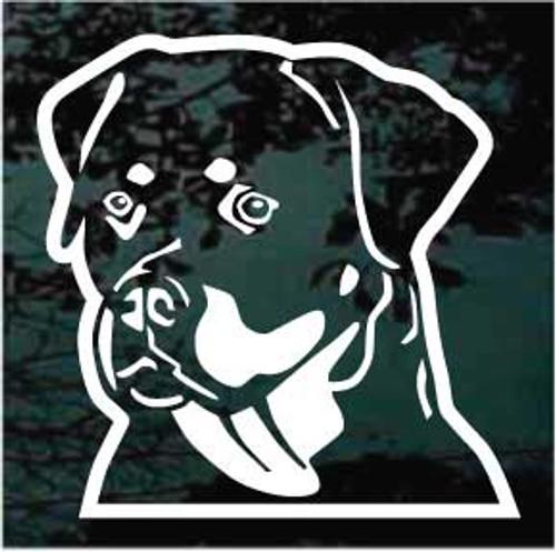 Friendly Rottweiler Head Decals