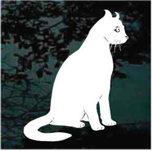 American Curl Cat Window Decal