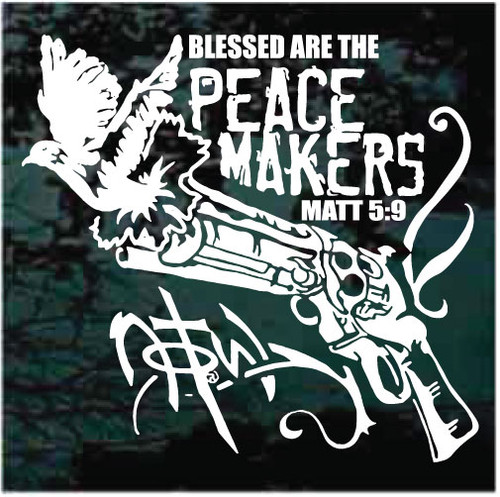 Blessed Are The Peacemakers Window Decals