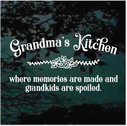 Grandma's Kitchen Window Decals