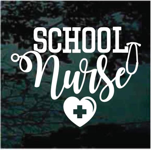 School Nurse Window Decals