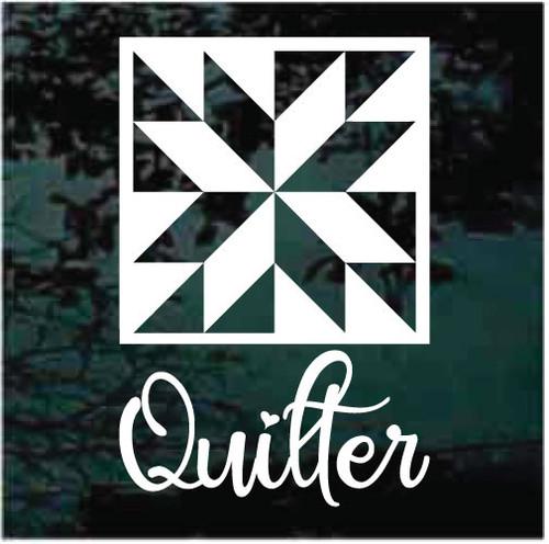 Quilter Window Decals