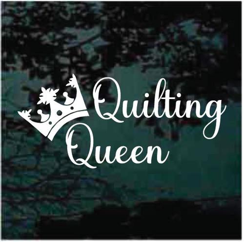 Quilting Queen Window Decals