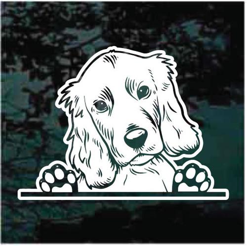 Cocker Spaniel Doggie In The Window Decals