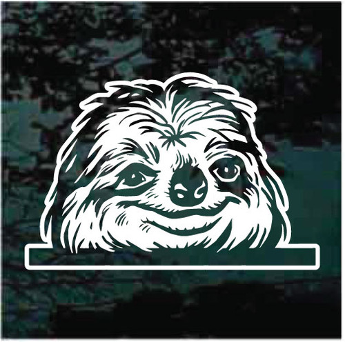 Sloth In The Window Decals